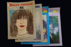 Four issues of the fanzine 'Break-through'