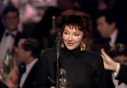 Kate Bush at the Brit Awards on 9 February 1987