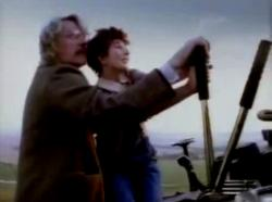 Still from the music video of 'Cloudbusting'