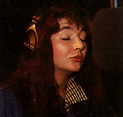 Kate Bush recording her part for Ferry Aid