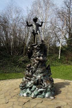 Found him! Statue of Peter Pan in Kensington Gardens, London.
