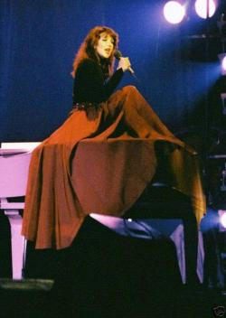 Kate Bush performing 'In The Warm Room' during the Tour of Life, 1979