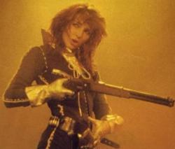 Kate Bush performing 'James And The Cold Gun' at Hammersmith Odeon, 1979