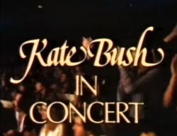 Title screen of 'Kate Bush In Concert'