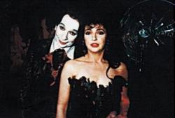 Lindsay Kemp and Kate Bush during filming of 'The Line, The Cross & The Curve'