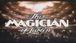 Opening titles of the film 'The Magician Of Lublin'