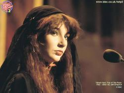 Kate Bush during a performance on Top Of The Pops, 1978