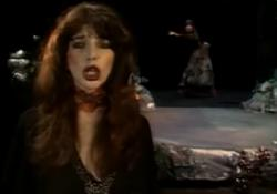 Still from Kate's performance of 'Wuthering Heights' on Toppop