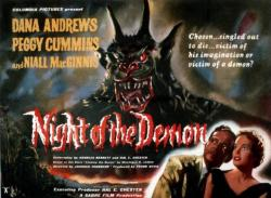 'Night Of The Demon' film poster