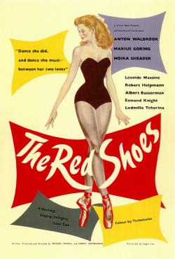 Film poster for the film 'The Red Shoes', 1948.